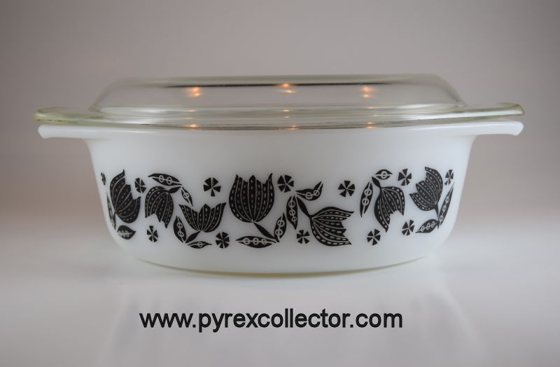 Black Tulip The Pyrex Collector Information For Vintage Glass Kitchenware Enthusiast