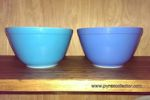 Multicolor and New Multicolor 401 blue bowls